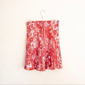 H&M pleated floral skirt